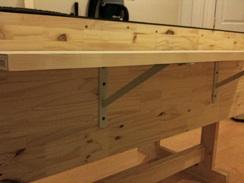 Wood Shelf & Gusseted Bracket